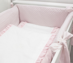 Roze Angel quilted bedbumper
