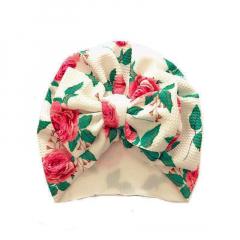 Baby Turban met strik 6-18M bloemenprint