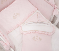 Roze Royal quilted Golden Glow slaapzak