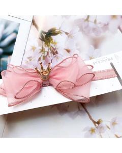 Roze princess haarbandje