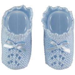 Blauw babysokjes chique