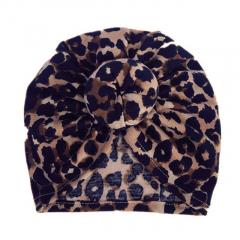 Baby Turban muts donut 6-18M leopard