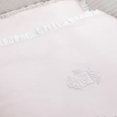 Roze Royal Monogram bedset 100cm x135 cm