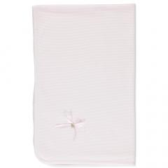 Roze Ruffle Rib dekentje