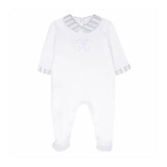 Babypakje wit met grijze details