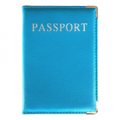 Paspoorthoes blauw