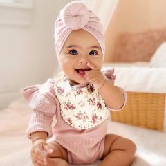 Baby Turban Donut 6-18M roze