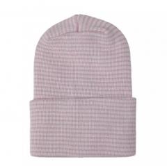 Newborn muts roze wit gestreept