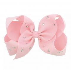 Roze XL Sparkle Bow haarclip