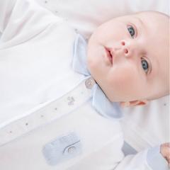 Babypakje met blauwe details