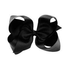 Haarspange mit Schleife XL schwarz