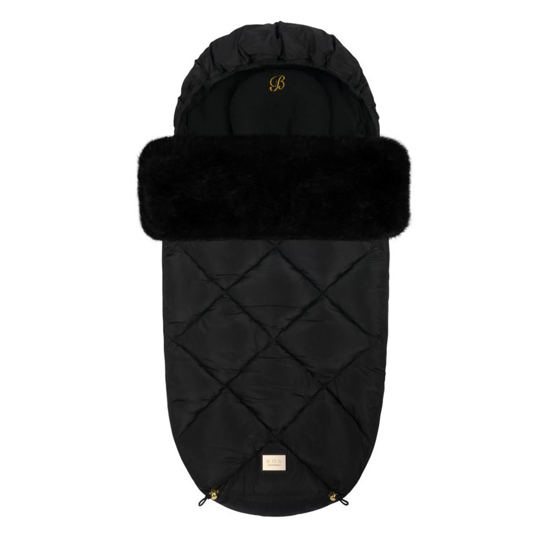 Luxe zwart diamond voetenzak