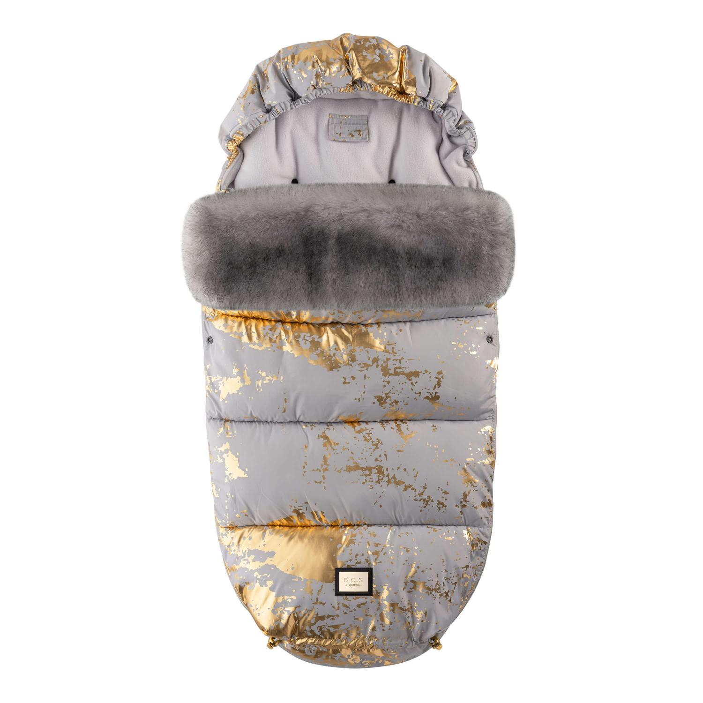 Luxe grijs met gouden voetenzak