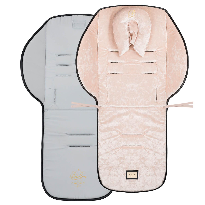 Roze velvet kinderwagen seat liner