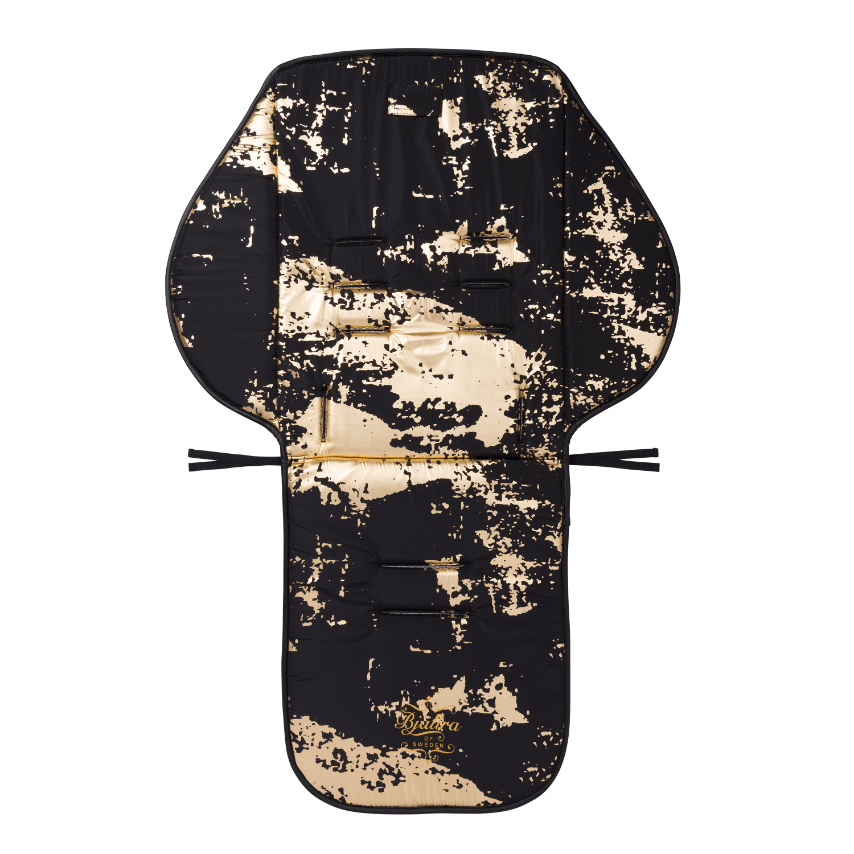 Zwart met gouden kinderwagen seat liner