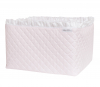 Roze Royal quilted commode mandje